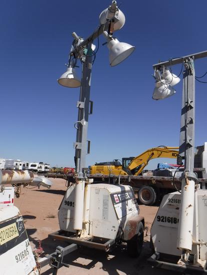2012 TEREX AL4 PORTABLE LIGHT PLANT GENERATOR, 6,286+ hrs,  MARATHON 6-KW G
