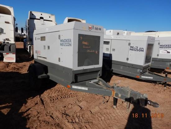 2011 WACKER NEUSON G50 GENERATOR, 8,716+ hrs,  38-KW, JOHN DEERE DIESEL S#