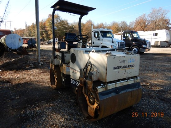1998 INGERSOLL-RAND DD-24 ROLLER COMPACTOR, 1129 HRS  DOUBLE SMOOTH DRUMS,