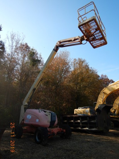 2001 JLG 600AJ MANLIFT, 4191 hrs  4X4, DEUTZ DIESEL, 60' LIFT HEIGHT, (PLAT