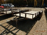 2012 MEB UTILITY TRAILER,  16', TANDEM AXLE, PIPE SIDE RAILS S# 51489