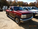 1992 FORD F150 FLARE SIDE PICKUP TRUCK, 91,506 MILES  V8 GAS, AT, PS, AC S#