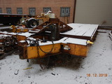 1971 NELSON LOWBOY EQUIPMENT TRAILER,  PINTLE HITCH, 20'+6' DOVETAIL, TANDE