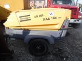 2011 ATLAS COPCO XAS185 JD7 PORTABLE AIR COMPRESSOR, 1,196 hrs, S# 36530 C#