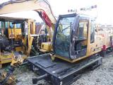 2006 JOHN DEERE TCM-120C TIE CRANE  WITH GENERATOR SET WITH MAGNET & BUCKET