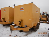 1991 HOMEMADE TRAILER,  PINTLE HITCH, TANDEM AXLE, SINGLE TIRE, APPROX 10',