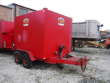 1987 HOMEMADE ENCLOSED TRAILER,  PINTLE HOOK, TANDEM AXLE, APPROX 10' S# TD