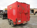1991 HOMEMADE ENCLOSED TRAILER,  PINTLE HOOK, TANDEM AXLE, APPROX 10' S# TD