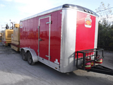2016 FOREST RIVER BL714TA2 ENCLOSED TRAILER,  16', TANDEM AXLE, SINGLE WHEE