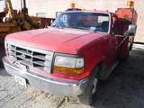 1993 FORD F350 MECHANICS TRUCK,  DIESEL, AUTOMATIC, PS, AC, R/K SERVICE BED