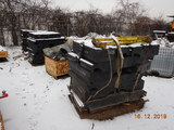 (3) PALLETS OF FER RUBBER CROSSINGS (NEW),  WITH DEFLECTOR PANS, SCREWS AND