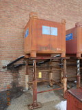 HYDRAULIC OIL TANK ON STAND,  SELLS WITH NEW OIL