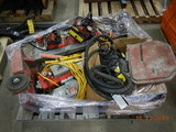 PALLET WITH, (2) MILWAUKEE CORE DRILLS,  VACUUM PUMPS, WATER PUMPS AND MISC