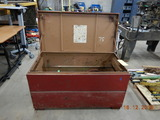 JOB BOX WITH (5) BREAKING HAMMERS,  HOSE AND MISCELLANEOUS C# A