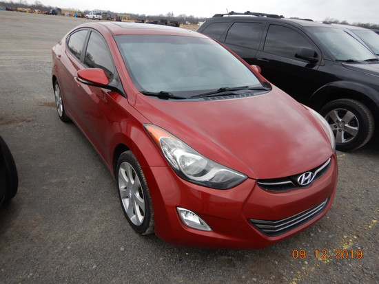2012 HYUNDAI ELANTRA CAR, 131,973+ mi,  4-DOOR, 4-CYL GAS, AUTOMATIC, PS, A