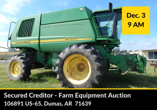 FARM EQUIPMENT AUCTION - SECURED CREDITOR
