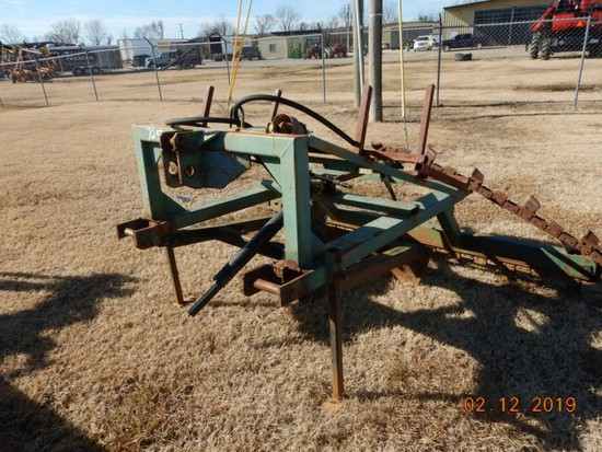 LEVEE TRENCHER  WITH BLADE, 3 POINT, HYDRAULIC S# 447