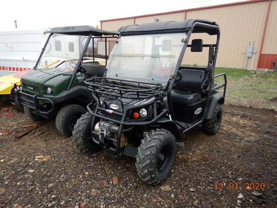 2013 BAD BOY AMBUSH HYBRID ATV,  4 X 4, ELECTRIC / GAS HYBRID, WINCH, NEW 1