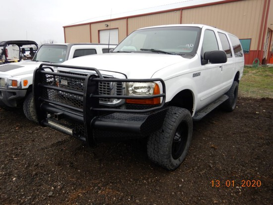 2000 FORD EXCURSION SUV, 182,099+ mi,  4 X 4, GAS, AUTOMATIC S# 9YED96