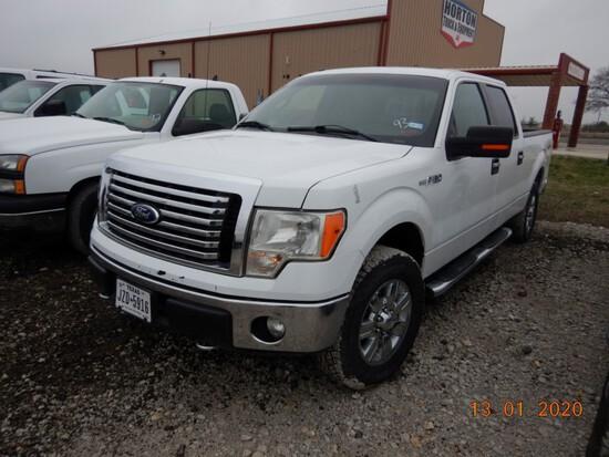 2011 FORD F150 XLT TRUCK, 202,959+ mi,  CREW CAB, 4 X 4, V8 GAS, AUTOMATIC,