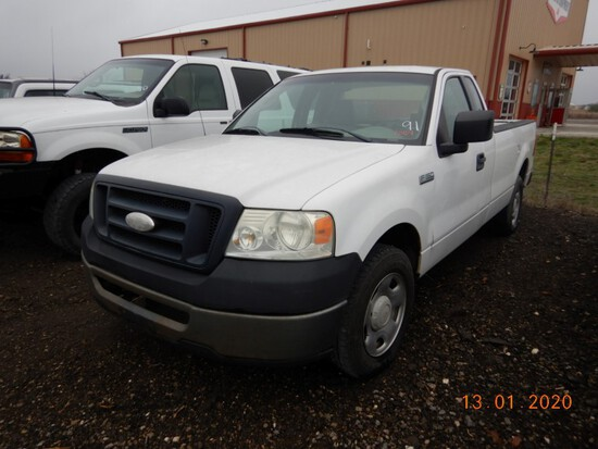 2007 FORD F-150XL TRUCK,  GAS, AUTOMATIC, PS, AC S# 40732