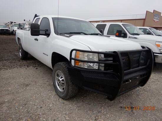 2011 CHEVROLET 2500 TRUCK, 197,678+ mi,  EXTENDED CAB, DURAMAX DIESEL, AUTO