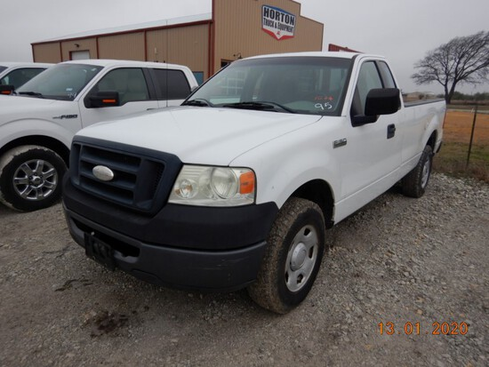 2008 FORD F-150 XL TRUCK, 219,147+ mi,  EXTENDED CAB, V8 GAS, AUTOMATIC S#