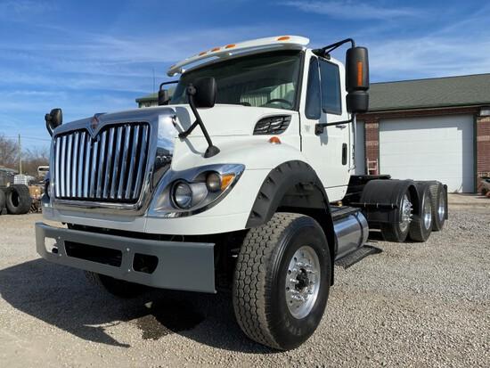 2011 INTERNATIONAL 7600 WORK STAR TRUCK TRACTOR, 145K + mi,  TRI AXLE, MAXX