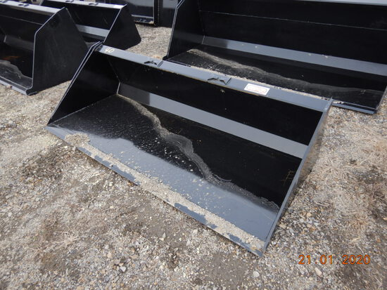 """78"""" BUCKET  FOR SKID STEER WITH SINGLE BLADE"""