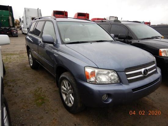 2007 TOYOTA HIGHLANDER SUV, 147,598 mi,  GAS, AUTOMATIC, PS, AC, S# 22165