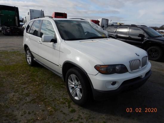 2005 BMW X5 SUV, n/a+ mi,  6-CYL GAS, AUTOMATIC, PS, AC S# 4980