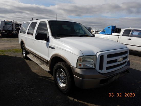2005 FORD EXCURSION SUV, 179,000 mi,  V8 GAS, AUTOMATIC, PS, AC S# 94414