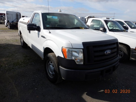 2010 FORD F-150 TRUCK, 201,396+mi,  V8 GAS, AUTOMATIC, PS, AC S# 22218