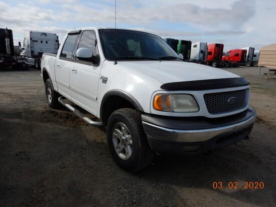 2002 FORD F-150 TRUCK, 258,000+ mi,  CREW CAB, 4 X 4, V8 GAS, AUTOMATIC, PS