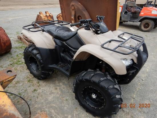 2008 HONDA RANCHER 420 ATV,  4 X 4 S# 01110