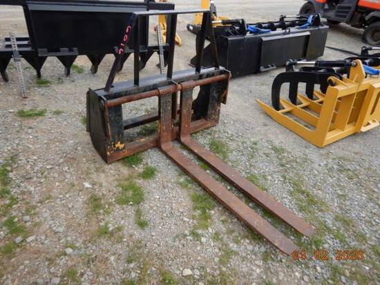 """FORK ATTACHMENT QUICK HITCH,  48"""", HEAVY DUTY, FOR SKID STEER OR TRACTOR"""
