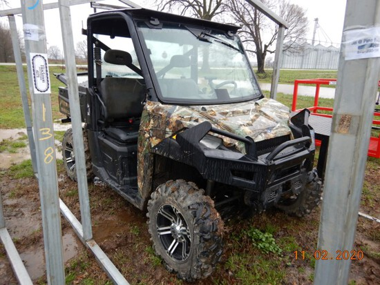 2013 POLARIS 900 RANGER XP SIDE BY SIDE,  CAB, POWER WINDOWS, PS, BLUETOOTH