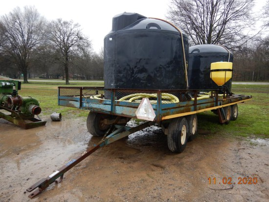 WATER WAGON  WITH 2 1650 GALLON TANKS, MIXING VAT