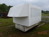 BILL HARRIS MANUFACTURING FIBERGLASS CAMPER,  SLIDE-IN STYLE, WIRED, AC, CA