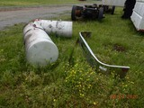 (2) ALUMINUM FUEL TANKS AND (1) TRUCK BUMPER