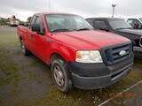 2007 FORD F150 XL PICKUP TRUCK,  V8 GAS, AT, PS, AC ***DROVE IN *** S# 1FTR