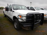 2012 FORD F250 PICKUP TRUCK,  4X4, CREW CAB, 6.4L GAS ENGINE, AT, PS, AC, C