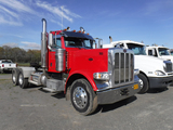 2010 PETERBILT 389 TRUCK TRACTOR,  DAY CAB, CAT C15, 10 SPEED, SCALES, TWIN