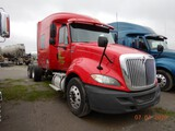 "2012 INTERNATIONAL PROSTAR + TRUCK TRACTOR,  60"" SLEEPER, MAXXFORCE DIESEL,"