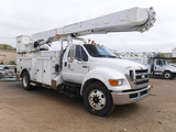 2008 FORD F750XL BUCKET TRUCK, 67,122 Miles 2,863 Hrs  SUPER DUTY, CAT C7 A