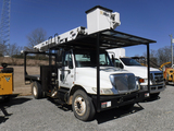 2007 INTERNATIONAL 4300 BUCKET TRUCK, 62,917+ MILES  DT466 DIESEL, MANUAL,