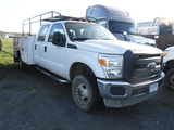 2014 FORD F350 SERVICE TRUCK, 34,592 MILES ON METER  4X4, 4-DOOR, POWER STR