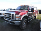2008 FORD F350 SUPER DUTY LARIAT SERVICE MECHANISC TRUCK,  4X4, V8 POWER ST