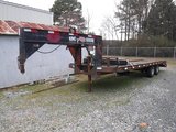 KALYN GOOSENECK EQUIPMENT TRAILER,  TANDEM AXLE, DUALS, DOVETAIL, RAMPS, MO