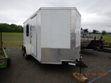 2019 LARK TEXAN SERIES ENCLOSED CARGO/OFFICE TRAILER,  16', TANDEM AXLE, EL